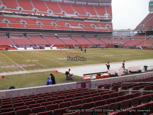 Seat view from section 131 at FirstEnergy Stadium, home of the Cleveland Browns