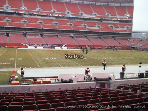 Seat view from section 132 at FirstEnergy Stadium, home of the Cleveland Browns