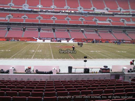 Seat view from section 133 at FirstEnergy Stadium, home of the Cleveland Browns