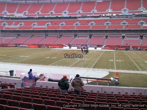Seat view from section 135 at FirstEnergy Stadium, home of the Cleveland Browns