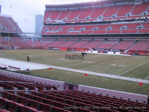 Seat view from section 137 at FirstEnergy Stadium, home of the Cleveland Browns