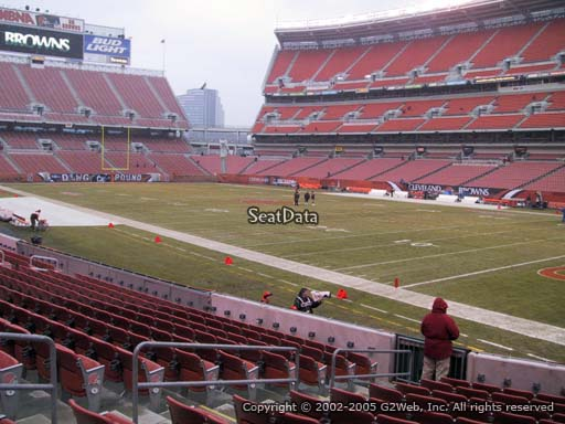 Seat view from section 139 at FirstEnergy Stadium, home of the Cleveland Browns
