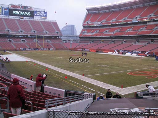 Seat view from section 141 at FirstEnergy Stadium, home of the Cleveland Browns