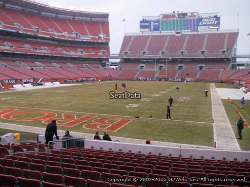 Seat view from section 149 at FirstEnergy Stadium, home of the Cleveland Browns