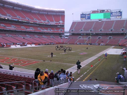 Seat view from section 150 at FirstEnergy Stadium, home of the Cleveland Browns