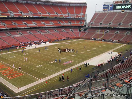 Seat view from section 302 at FirstEnergy Stadium, home of the Cleveland Browns
