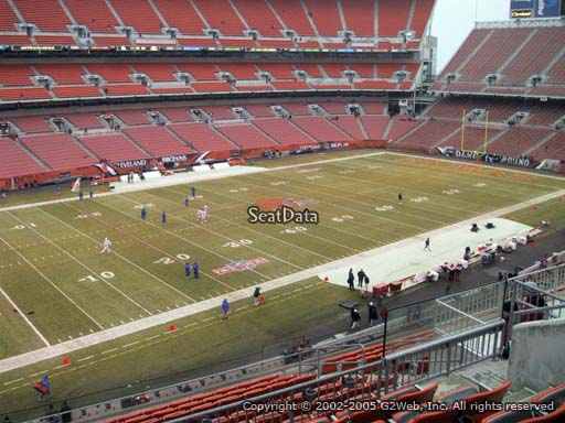 Seat view from section 304 at FirstEnergy Stadium, home of the Cleveland Browns
