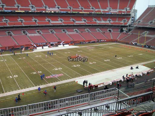 Seat view from section 305 at FirstEnergy Stadium, home of the Cleveland Browns