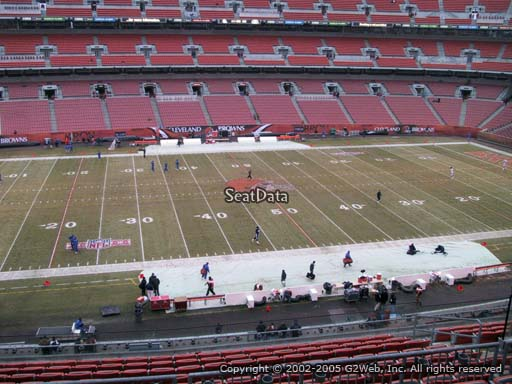 Seat view from section 307 at FirstEnergy Stadium, home of the Cleveland Browns