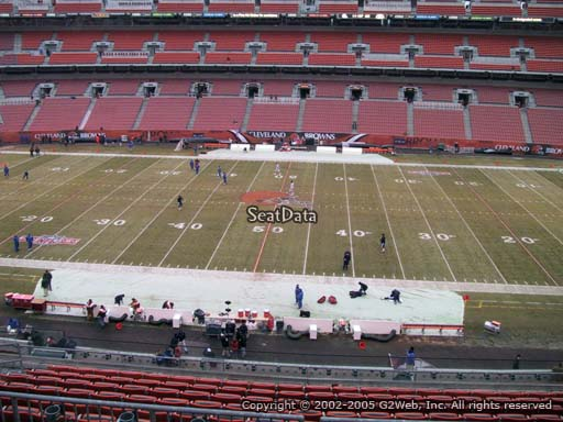 Seat view from section 309 at FirstEnergy Stadium, home of the Cleveland Browns