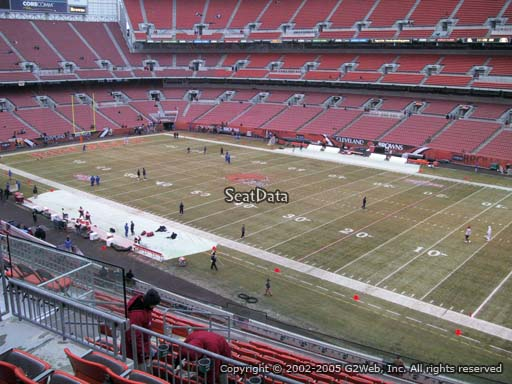 Seat view from section 313 at FirstEnergy Stadium, home of the Cleveland Browns