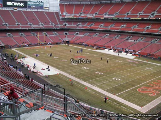 Seat view from section 315 at FirstEnergy Stadium, home of the Cleveland Browns