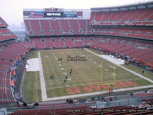 Seat view from section 318 at FirstEnergy Stadium, home of the Cleveland Browns