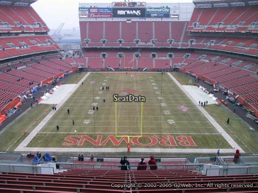 Seat view from section 320 at FirstEnergy Stadium, home of the Cleveland Browns