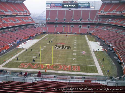Seat view from section 321 at FirstEnergy Stadium, home of the Cleveland Browns