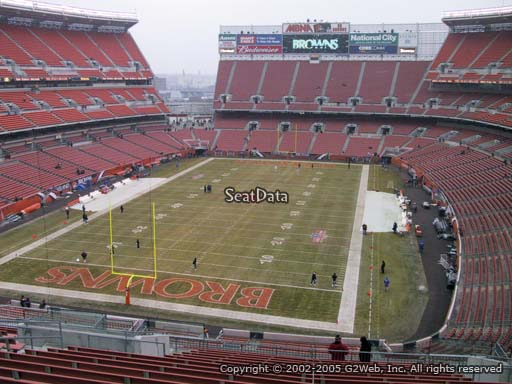 Seat view from section 322 at FirstEnergy Stadium, home of the Cleveland Browns