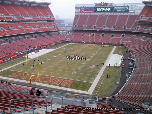 Seat view from section 323 at FirstEnergy Stadium, home of the Cleveland Browns