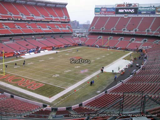 Seat view from section 325 at FirstEnergy Stadium, home of the Cleveland Browns