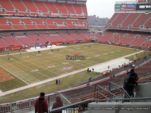 Seat view from section 328 at FirstEnergy Stadium, home of the Cleveland Browns