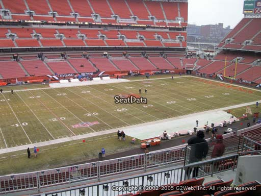 Seat view from section 330 at FirstEnergy Stadium, home of the Cleveland Browns