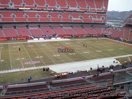 Seat view from section 331 at FirstEnergy Stadium, home of the Cleveland Browns