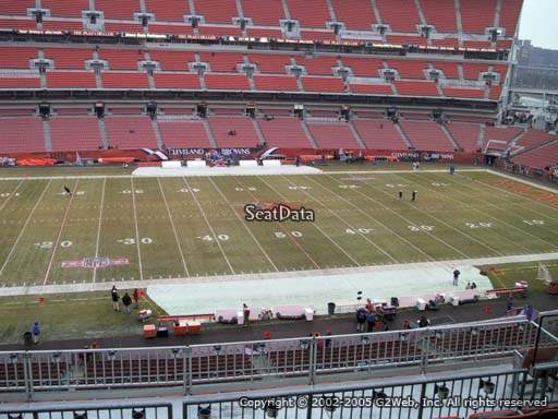 Seat view from section 332 at FirstEnergy Stadium, home of the Cleveland Browns