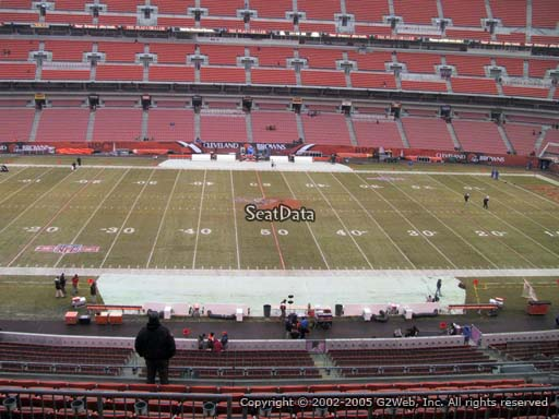 Seat view from section 333 at FirstEnergy Stadium, home of the Cleveland Browns