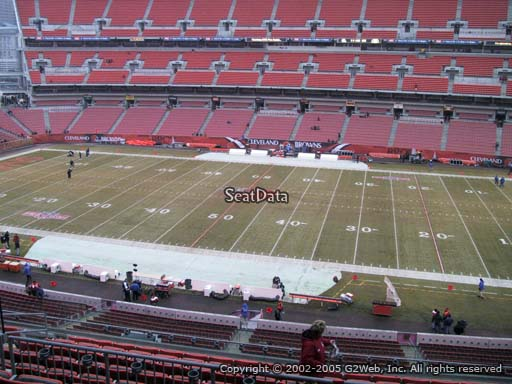 Seat view from section 335 at FirstEnergy Stadium, home of the Cleveland Browns