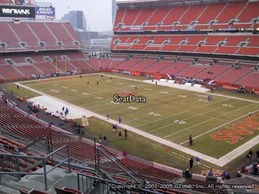 Seat view from section 340 at FirstEnergy Stadium, home of the Cleveland Browns