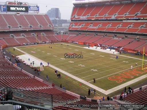 Seat view from section 341 at FirstEnergy Stadium, home of the Cleveland Browns