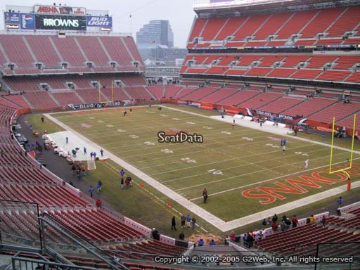 Seat view from section 342 at FirstEnergy Stadium, home of the Cleveland Browns