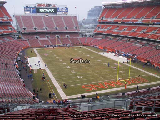 Seat view from section 344 at FirstEnergy Stadium, home of the Cleveland Browns
