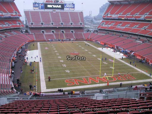 Seat view from section 345 at FirstEnergy Stadium, home of the Cleveland Browns