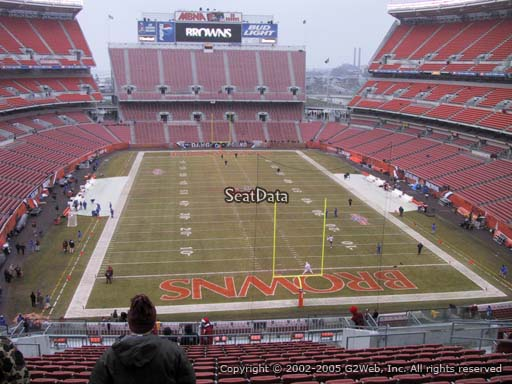 Seat view from section 346 at FirstEnergy Stadium, home of the Cleveland Browns