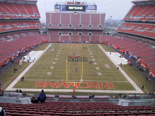 Seat view from section 347 at FirstEnergy Stadium, home of the Cleveland Browns