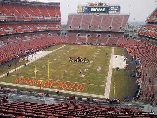 Seat view from section 349 at FirstEnergy Stadium, home of the Cleveland Browns