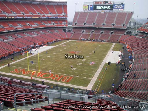 Seat view from section 350 at FirstEnergy Stadium, home of the Cleveland Browns