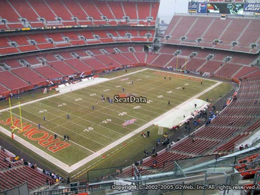 Seat view from section 501 at FirstEnergy Stadium, home of the Cleveland Browns