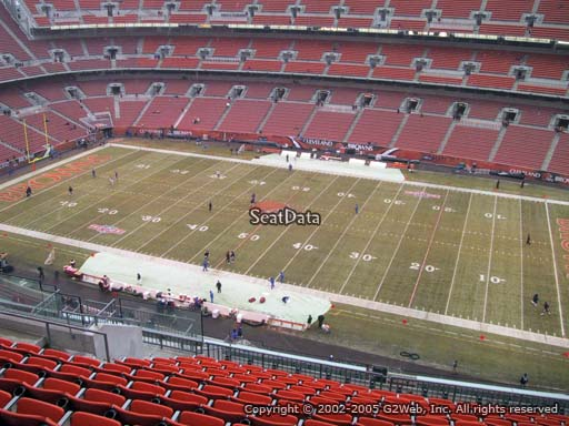 Seat view from section 511 at FirstEnergy Stadium, home of the Cleveland Browns