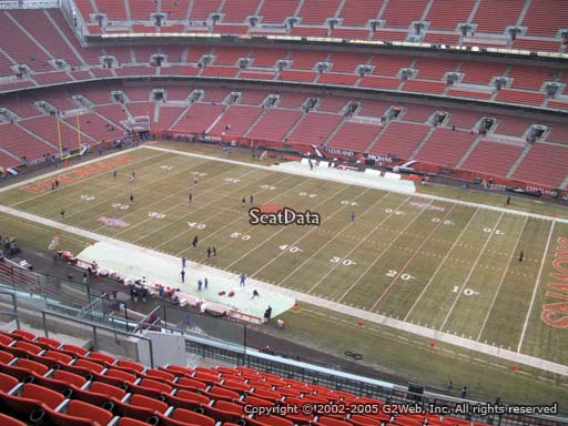 Seat view from section 512 at FirstEnergy Stadium, home of the Cleveland Browns