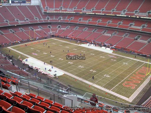 Seat view from section 514 at FirstEnergy Stadium, home of the Cleveland Browns