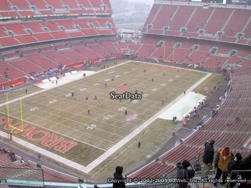 Seat view from section 525 at FirstEnergy Stadium, home of the Cleveland Browns