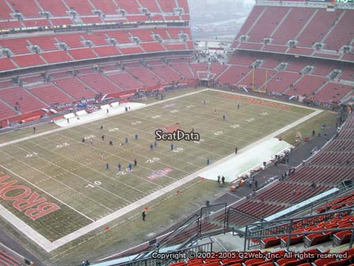 Seat view from section 527 at FirstEnergy Stadium, home of the Cleveland Browns