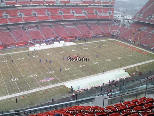 Seat view from section 530 at FirstEnergy Stadium, home of the Cleveland Browns