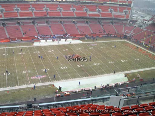 Seat view from section 531 at FirstEnergy Stadium, home of the Cleveland Browns