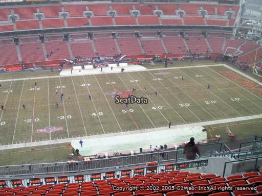 Seat view from section 532 at FirstEnergy Stadium, home of the Cleveland Browns