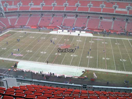 Seat view from section 535 at FirstEnergy Stadium, home of the Cleveland Browns