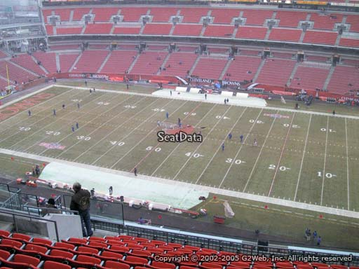 Seat view from section 536 at FirstEnergy Stadium, home of the Cleveland Browns