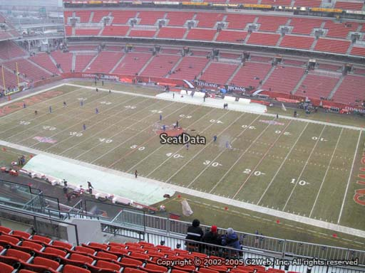 Seat view from section 537 at FirstEnergy Stadium, home of the Cleveland Browns