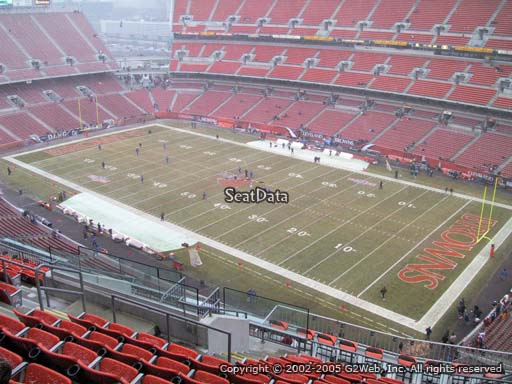 Seat view from section 539 at FirstEnergy Stadium, home of the Cleveland Browns